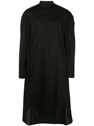Julius Crucifix Long Line Shirt Black
