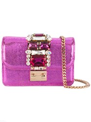 Gedebe Embellished Clutch Bag Women Leather One Size Pink Purple