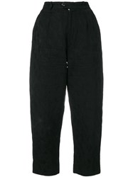 Yves Saint Laurent Vintage Cropped Trousers Black