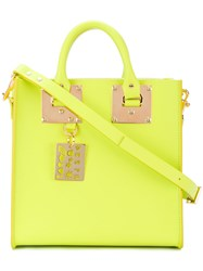 Sophie Hulme Albion Mini Tote Women Calf Leather One Size Green