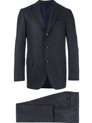 Massimo Piombo Mp Flannel Two Piece Suit Grey