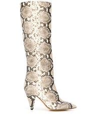 The Seller Animal Print Boots Neutrals