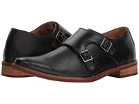 Deer Stags Cyprus Perf Black Simulated Leather Slip On Dress Shoes