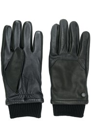 Canada Goose Ribbed Cuff Gloves Black
