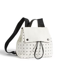Jigsaw Blake Perforated Zip Backpack White
