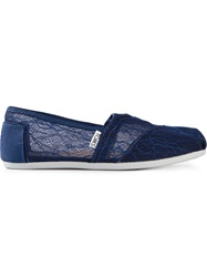 Toms Floral Lace Slippers