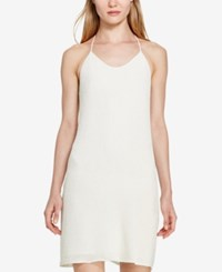 Polo Ralph Lauren Beaded T Back Slip Dress Cream