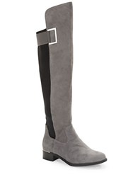 Calvin Klein Cylan Suede Knee High Boots Grey