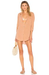 Acacia Swimwear Milos Shirt Dress Tan