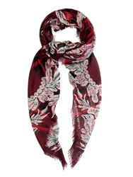 Alexander Mcqueen Lace And Tartan Print Scarf