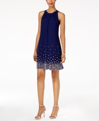 Msk Beaded Shift Dress Midnight
