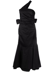 Teija Ruched Bow Back Dress Black