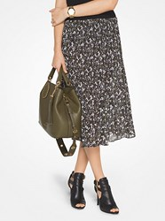 Michael Michael Kors Floral Pleated Skirt Green
