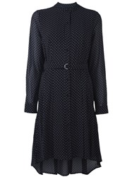 Michael Michael Kors Micro Polka Dot Print Shift Dress With D Ring Waist Fastening Black