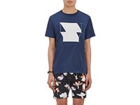 Saturdays Surf Nyc Men's Ny Graphic Cotton T Shirt Blue
