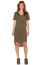 Dolan V Neck T Shirt Dress Army