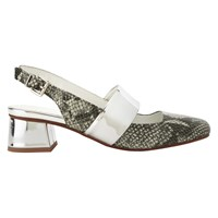 Finery Forever Pieces Finery Ferncroft Sling Back Closed Toe Sandals Pewter