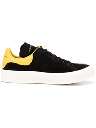 Alexander Mcqueen Panelled Lace Up Sneakers Black