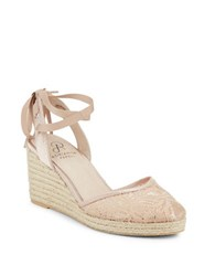Adrianna Papell Penny Lace Wedge Sandals Blush