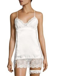 In Bloom Lace Chemise And Garter Ivory