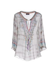 Hale Bob Blouses Light Grey