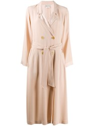Forte Forte Double Breasted Coat Neutrals