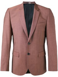 Paul Smith Ps By Classic Blazer Men Viscose Mohair Wool 36 Red