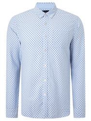 Scotch And Soda Long Sleeve Blauw Shirt Light Blue