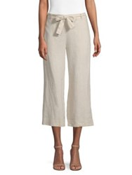 Donna Karan Pull On Cropped Pants Stone Linen