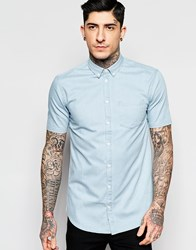 Minimum Shirt In Faded Denim Short Sleeves Light Blue