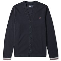 Fred Perry Pique Cardigan Blue