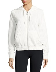 Bench Quilted Zip Front Hoodie Snow White