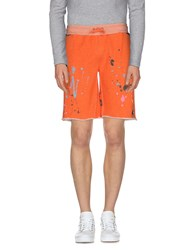 Andy Warhol By Pepe Jeans Trousers Bermuda Shorts Men Orange