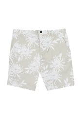 French Connection Men's Cosmic Chrysantheum Printed Shorts Cream