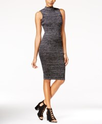 Say What Bodycon Sweater Dress Silver Black