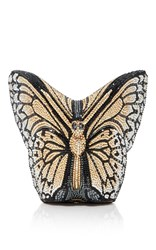 Judith Leiber Couture Monarch Butterfly Clutch Black