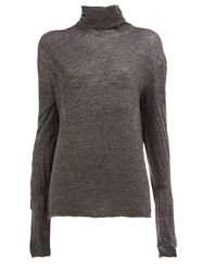 Lost And Found Ria Dunn High Neck Jersey Grey