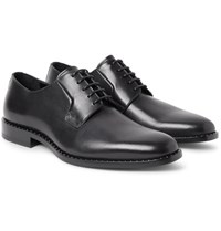 Saint Laurent Dylan Studded Polished Leather Derby Shoes Black