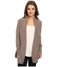 Pendleton Petite Pettygrove Cardigan Soft Brown Heather Women's Sweater