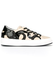Philippe Model Studded Sneakers Nude Neutrals
