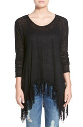 Junior Women's Sun And Shadow Fringe Trim Tunic
