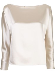 Peter Cohen Silk Plain Blouse. Neutrals