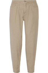 J Brand Cotton Tapered Pants Nude