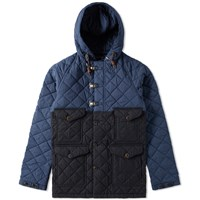Nigel Cabourn X Lavenham Quilted Cameraman Jacket Blue