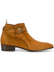 Lidfort Buckled Ankle Boots Brown