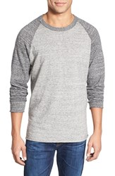 Men's Billy Reid Regular Fit Long Sleeve Jersey Crewneck