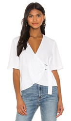 Bcbgeneration D Ring Wrap Front Top In White. Optic White