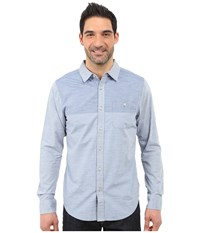 The North Face Long Sleeve Block Me Shirt Moonlight Blue Cosmic Blue Men's Long Sleeve Button Up