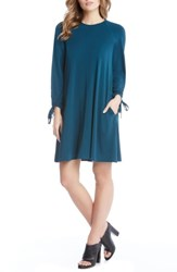Karen Kane Women's Tie Sleeve Shift Dress Teal