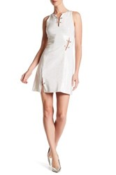 Versus By Versace Embellished Safety Pin Dress White